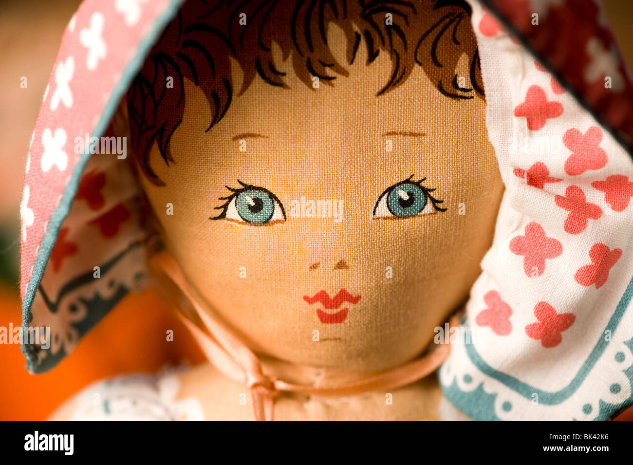 Close up of rag doll. Stock Photo