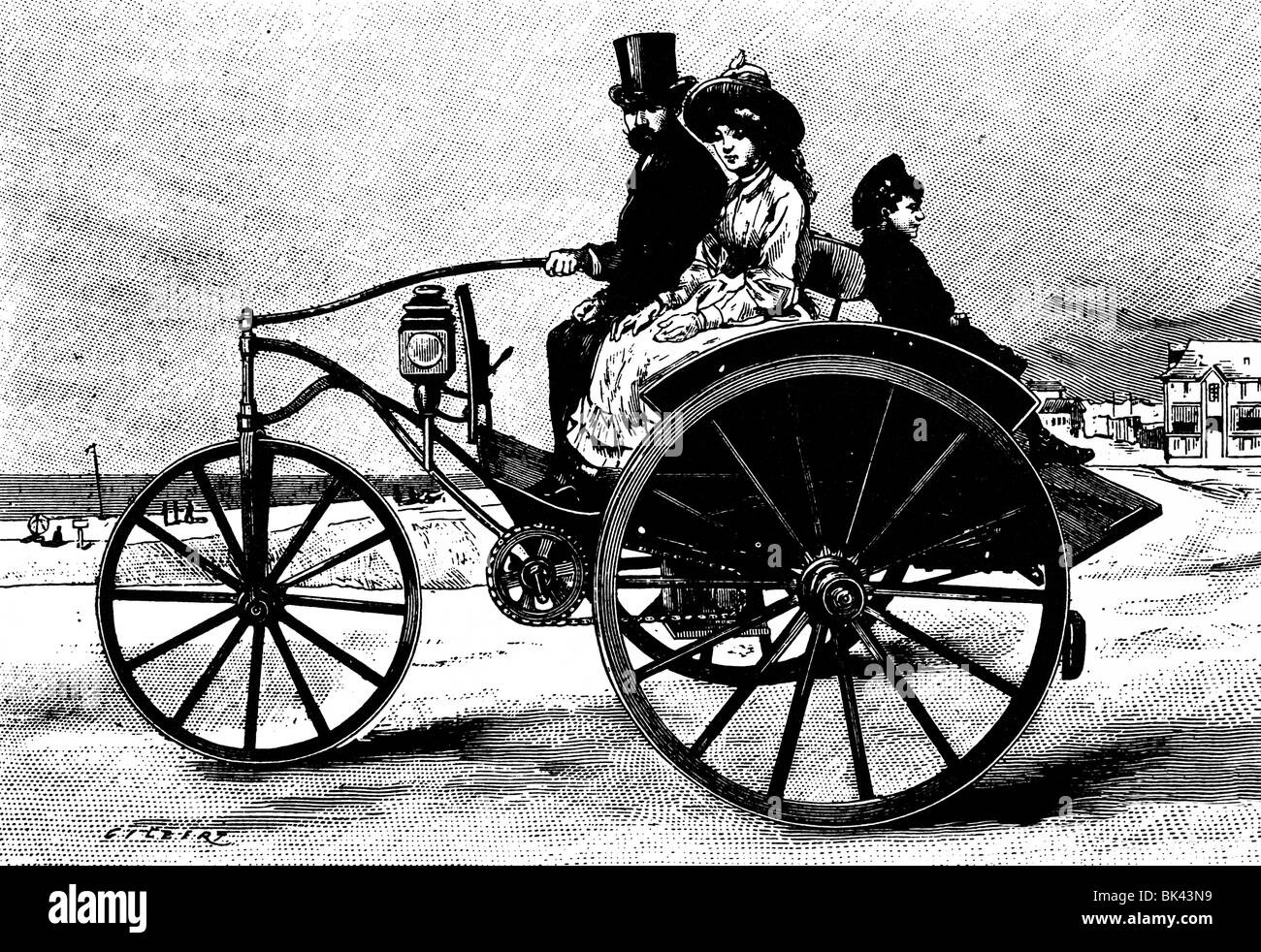 Dog-cart Powered by Electricity, 1888 Stock Photo: 28979589 - Alamy