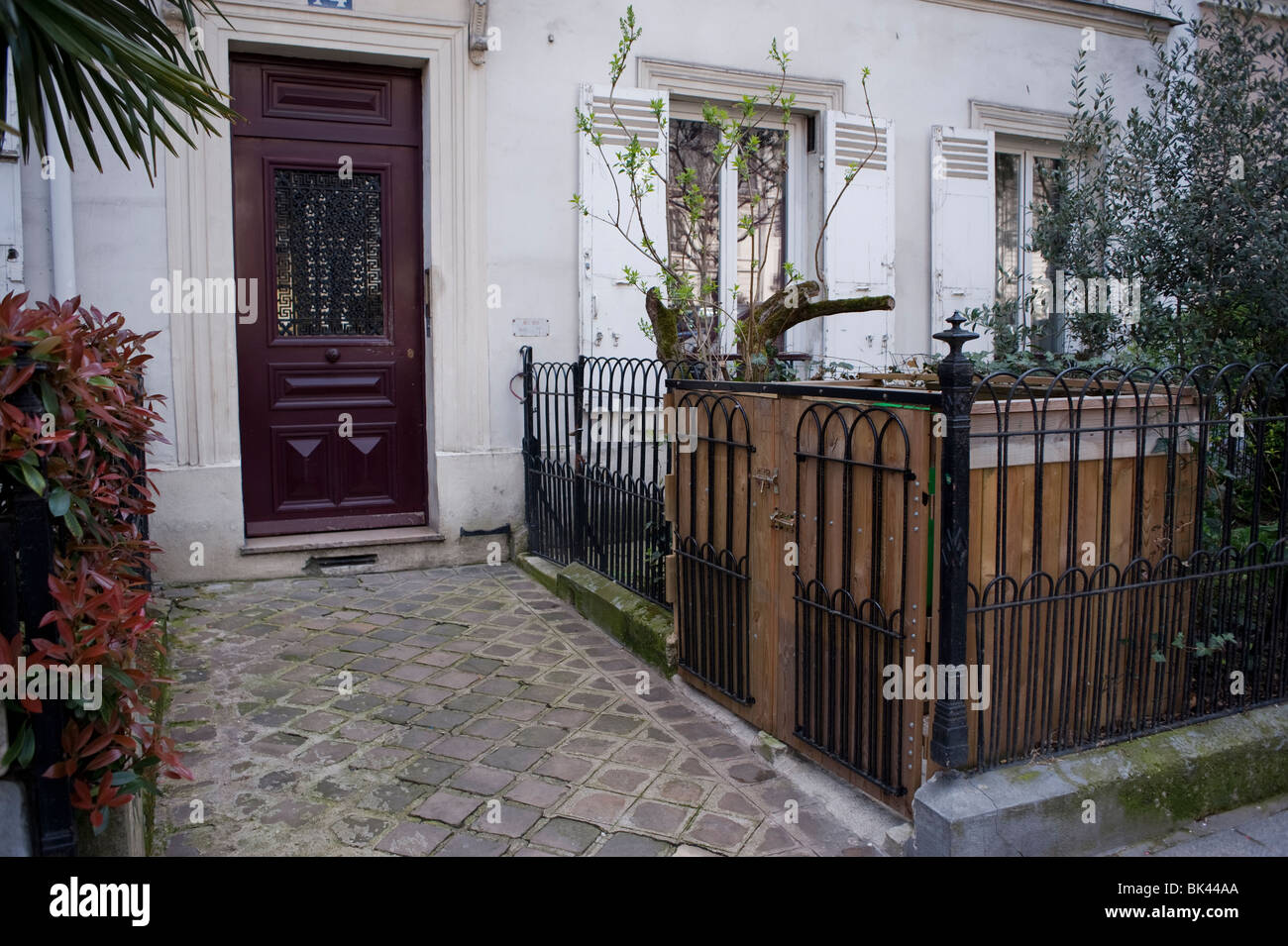 Paris, France, Private Apartment Building Front Entrance Door, with ...