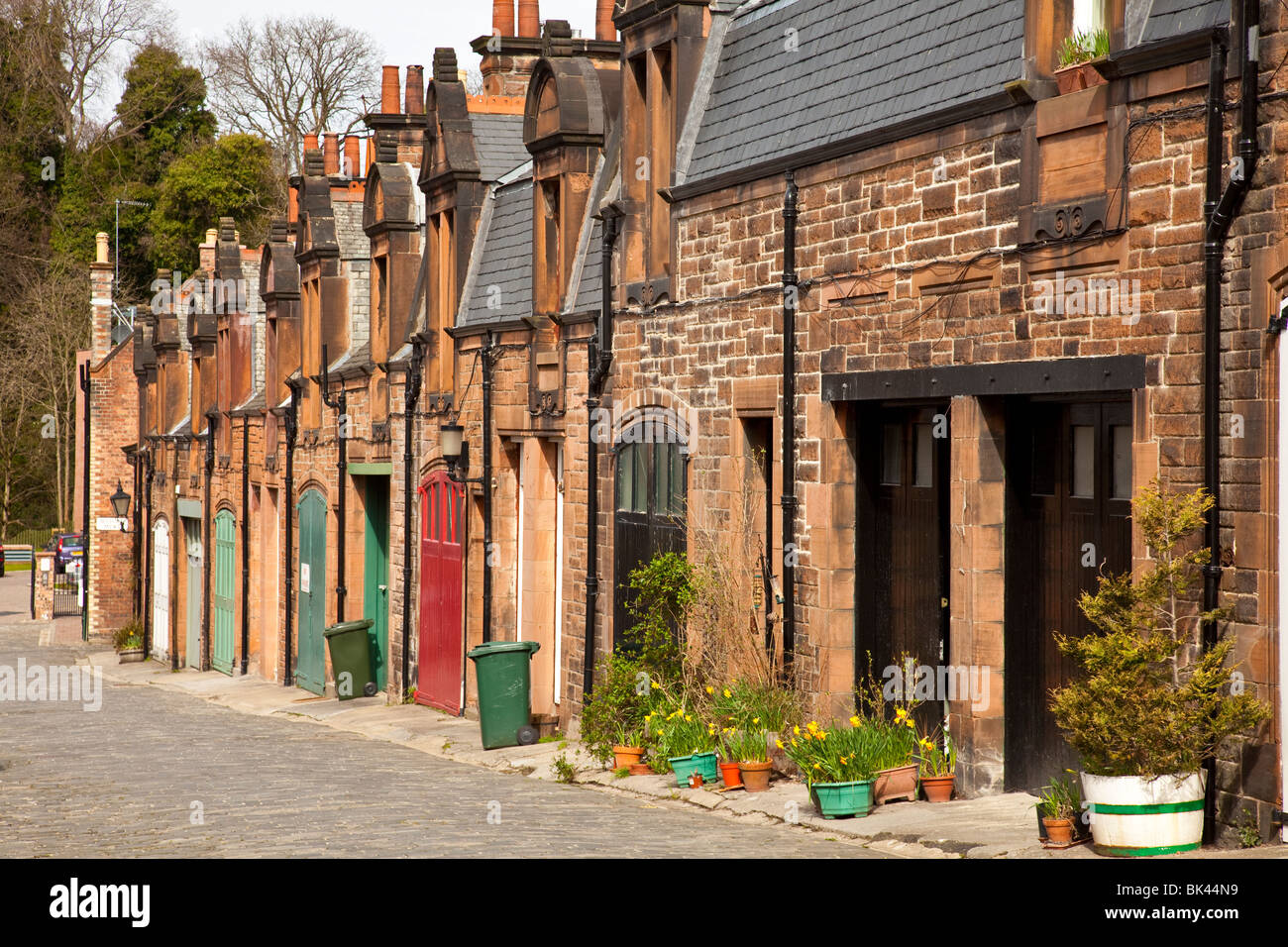 Belford Mews, a quiet residential street in the pleasant Dean Village area of Edinburgh, Scotland, UK. - Stock Image
