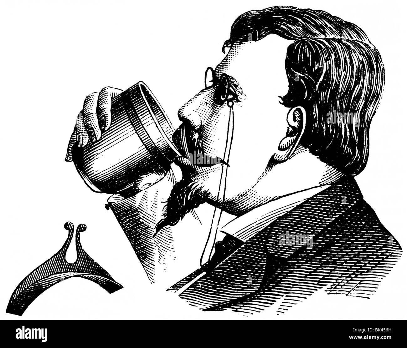 Moustache Guard, 1872 - Stock Image