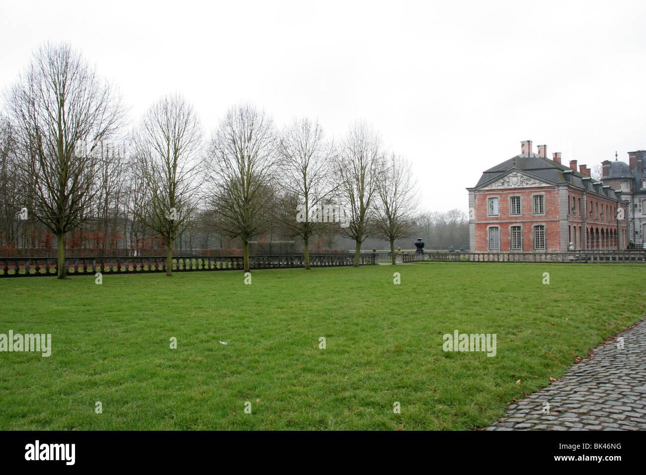 Beloeil palace in Belgium. - Stock Image