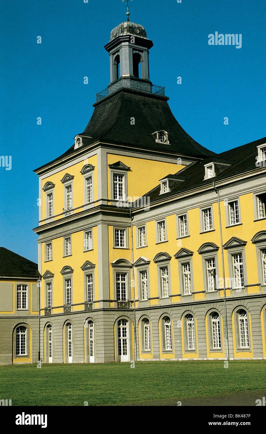 Main Building at the University of Bonn, Germany - Rheinische Friedrich-Wilhelms-Universität Bonn (former residence Stock Photo