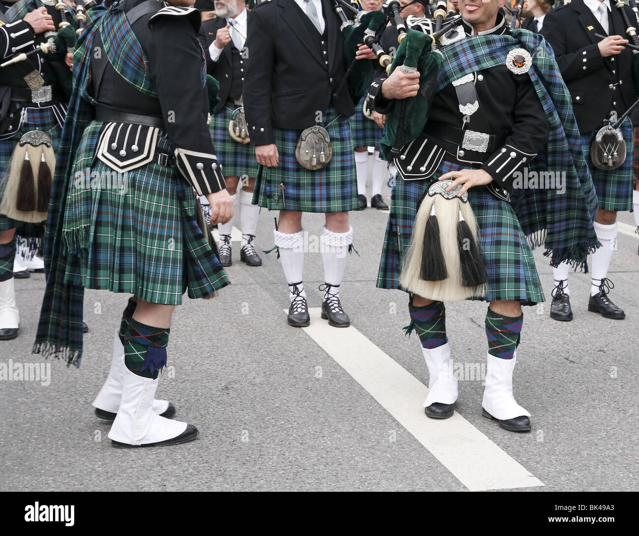 Irish musicians, celebration of St. Patricks day - Stock Image
