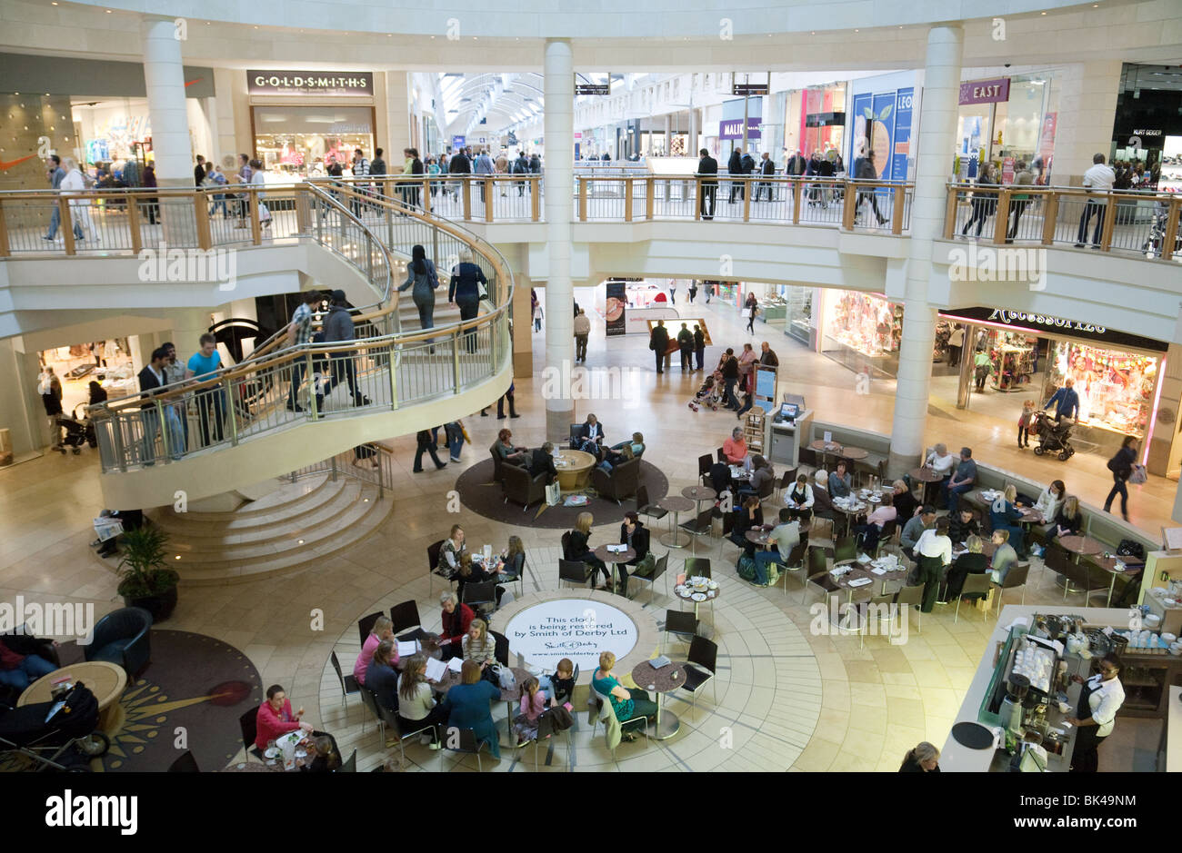Shoppers at Bluewater shopping centre, Dartford, Kent, UK - Stock Image