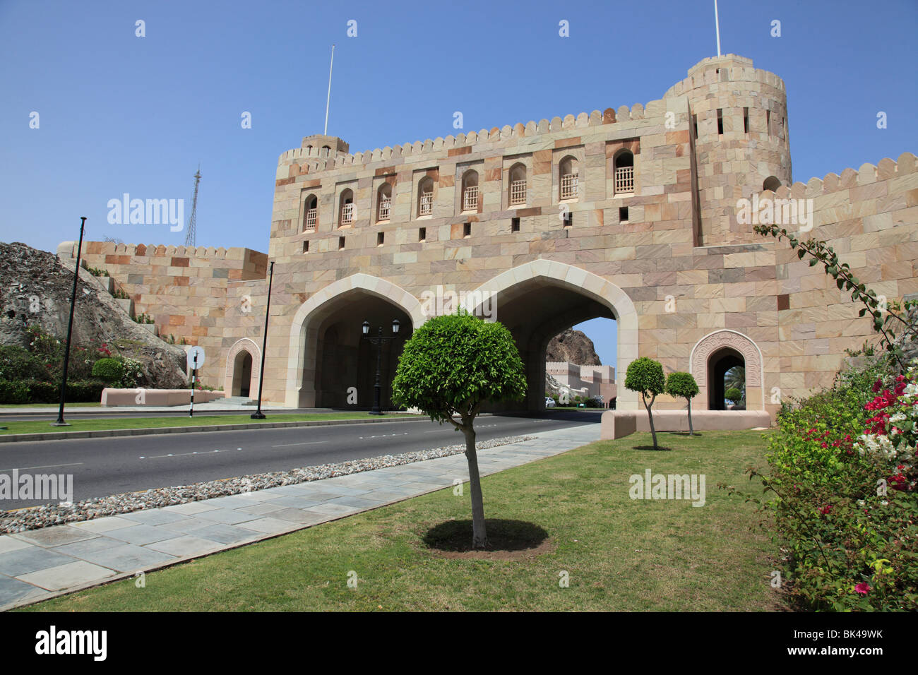 building, Fortified Gates to the old city of Muscat