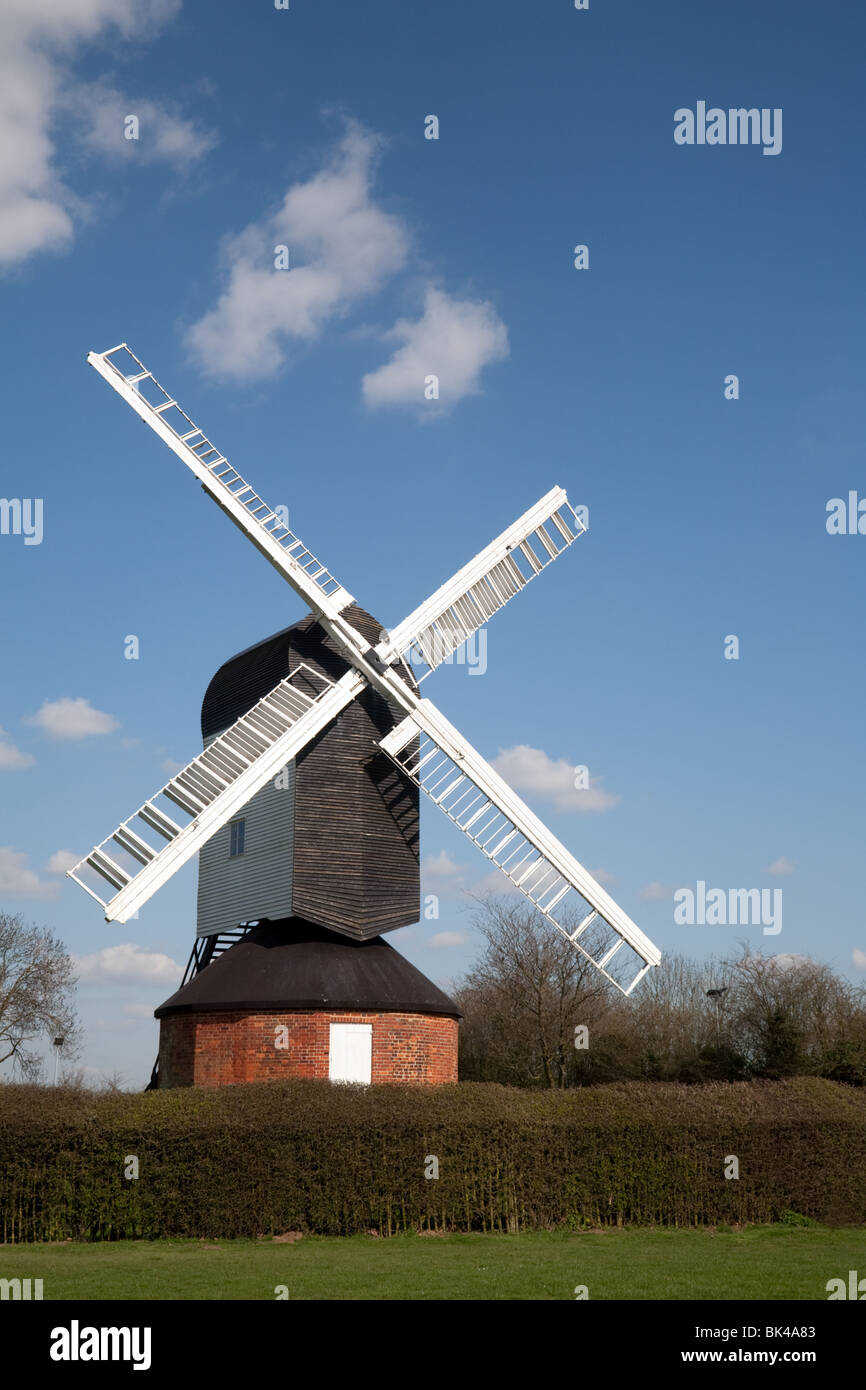 Mountnessing post windmill, Mountnessing, Essex UK - Stock Image