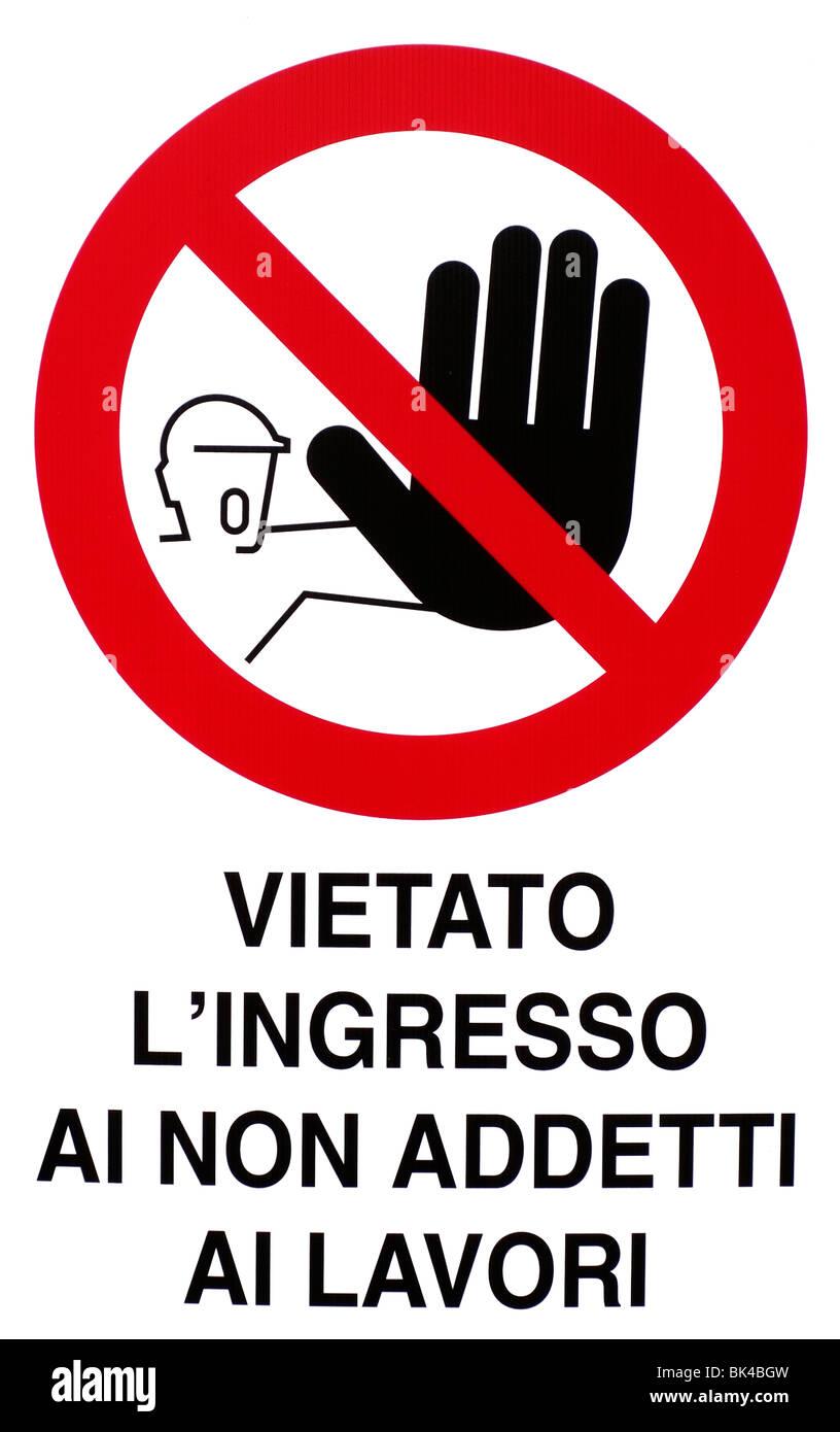 Warning sign - Stock Image