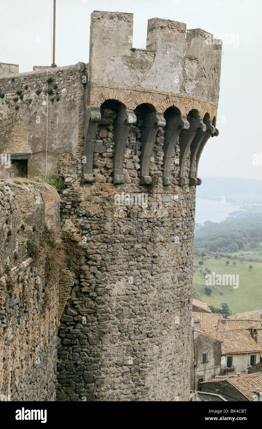 15th century Orsini Odescalchi Castle in Bracciano, Italy - Stock Image