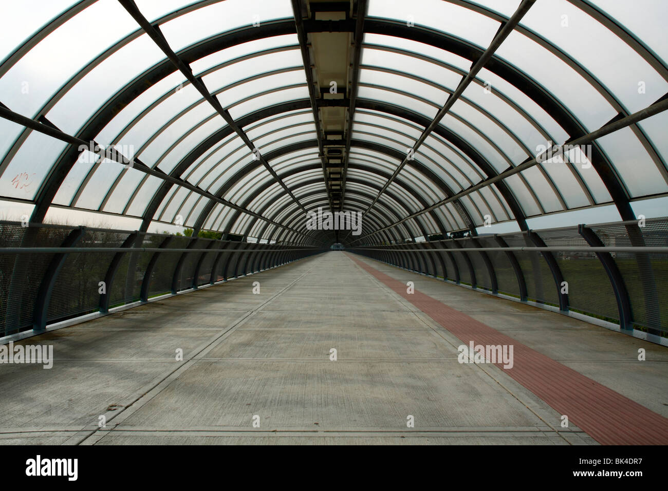 Pedestrian tunnel at nuova fiera di roma stock photo for Fiera arredamento roma
