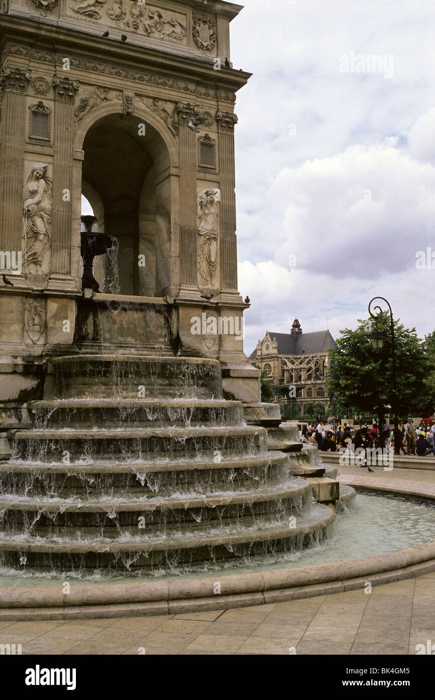 Fontaine des Innocents in Paris, France Stock Photo