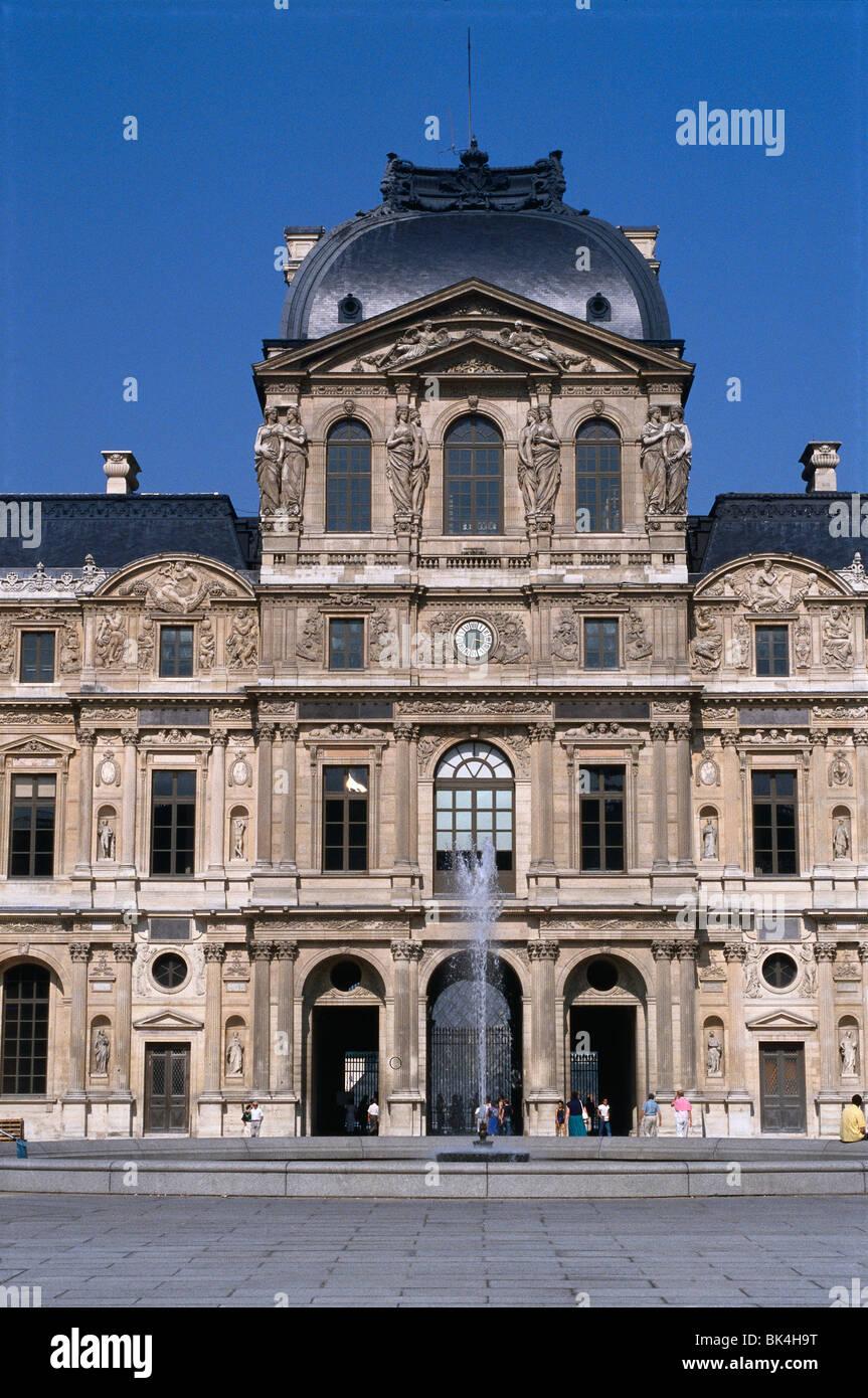 Richelieu Wing of the Musée du Louvre in Paris, France Stock Photo