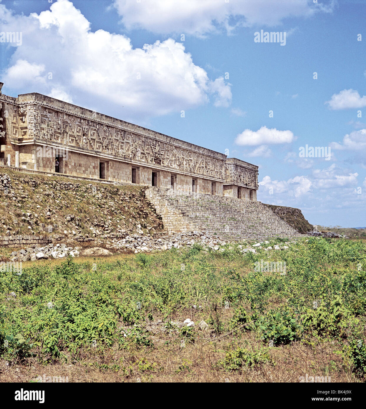 The Palace of the Governor, 900-1000 AD, in Uxmal, Mexico - Stock Image