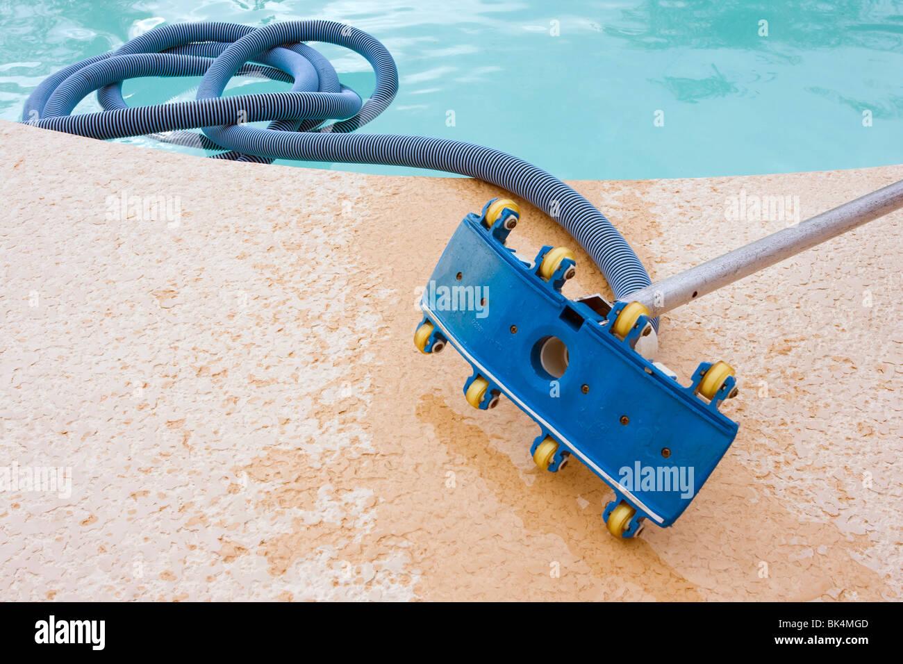 Swimming pool vacuum cleaner equipment Stock Photo: 28992781 - Alamy
