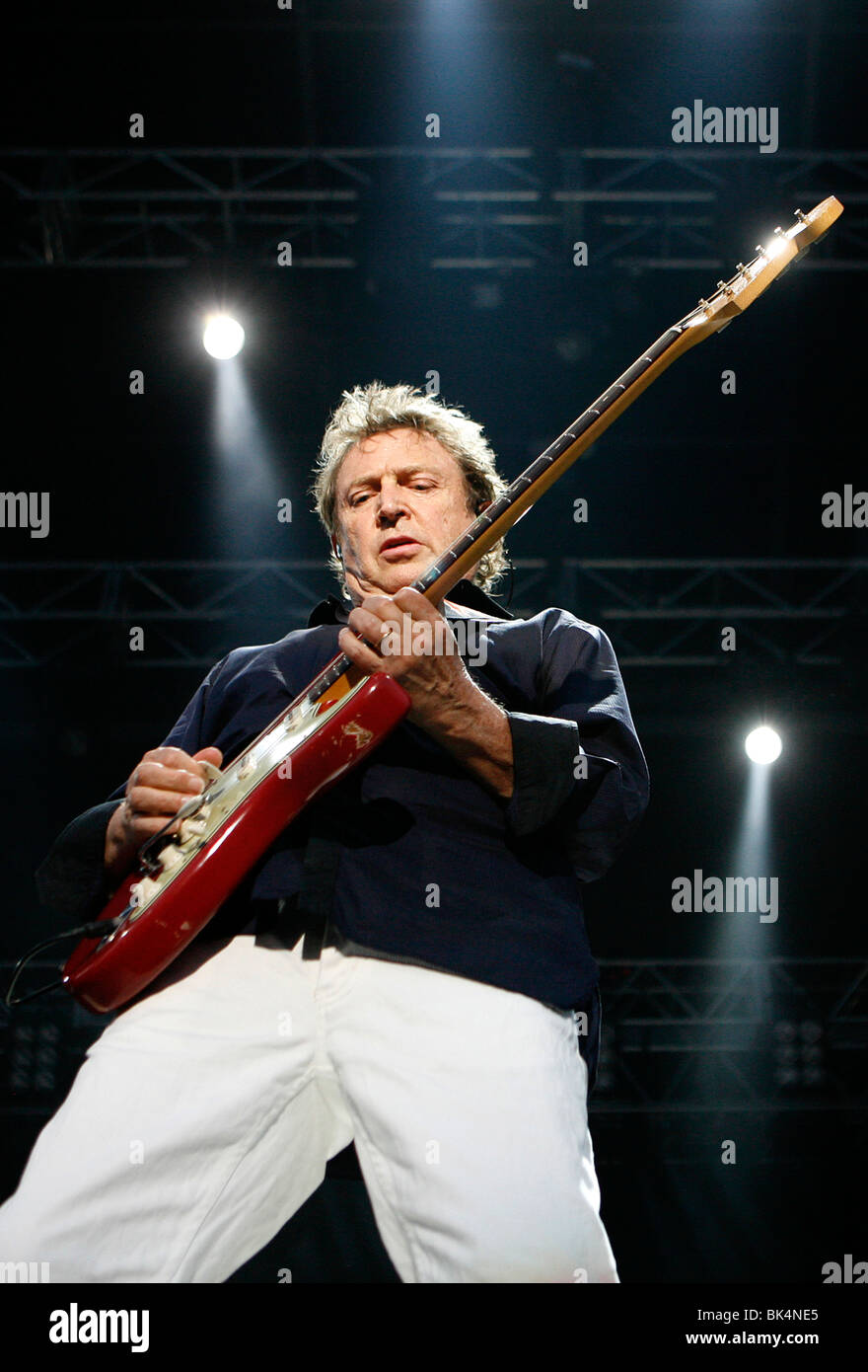 Guitarist Andy Summers of The Police performs at the Virgin Music Festival. - Stock Image