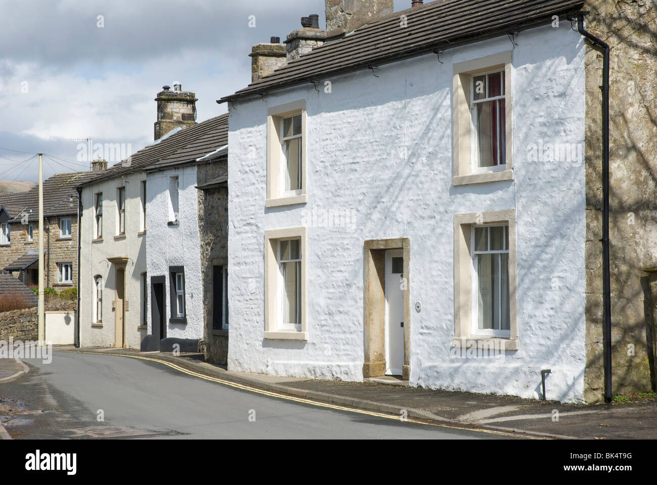 Main Street, in the village of Ingleton, North Yorkshire, England UK - Stock Image