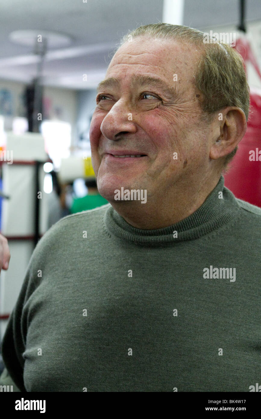 Bob Arum Top Rank Boxing Promoter at the Wild Card Gym on Media Day, March 2010 - Stock Image