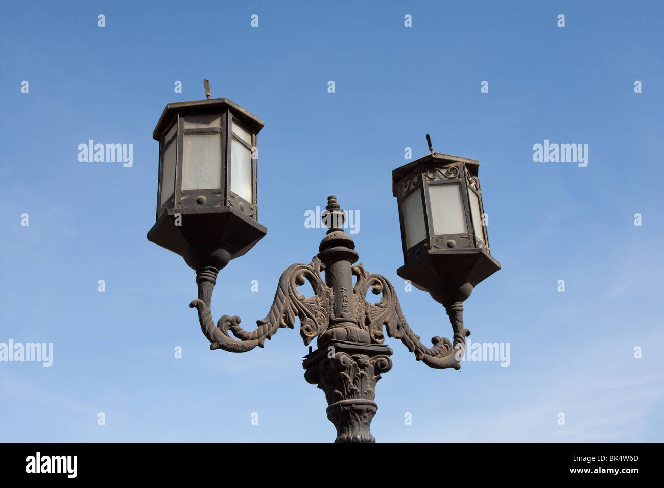 A street lamp in Sharm el Sheik, Egypt - Stock Image