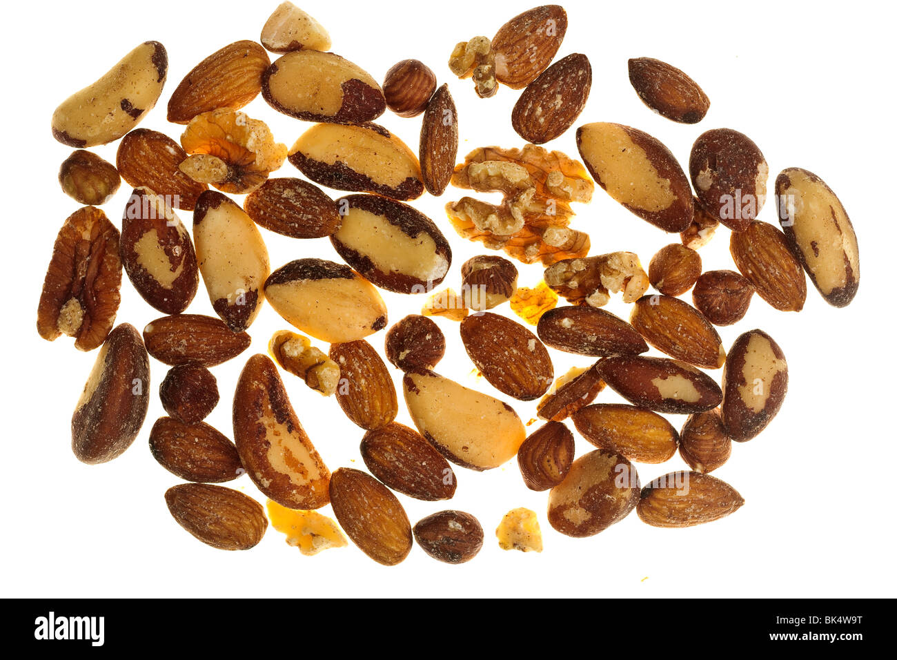 Pile of mixed nuts - Stock Image