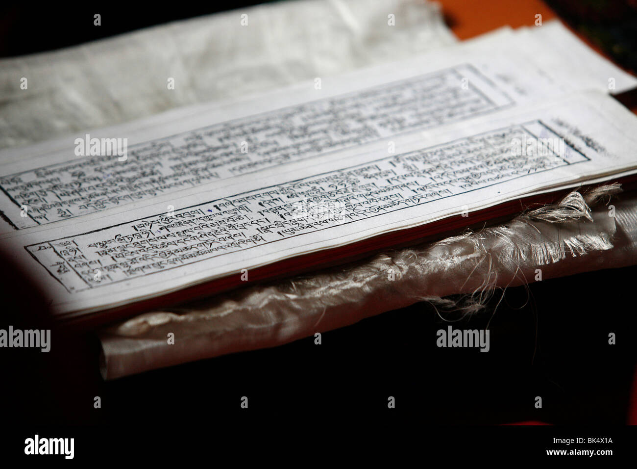 Tibetan scripture tablets, Kathmandu, Nepal, Asia - Stock Image