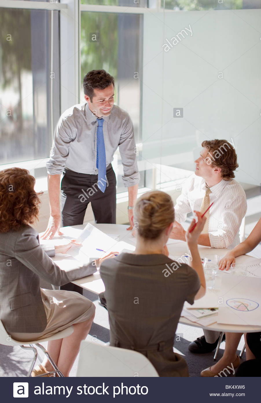 Executive People Table Stock Photos Executive People Table - 4 person conference table