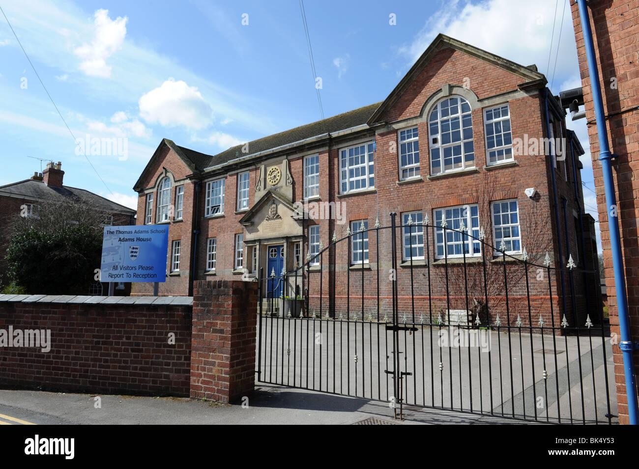 The Thomas Adams School at Wem in north Shropshire uk - Stock Image