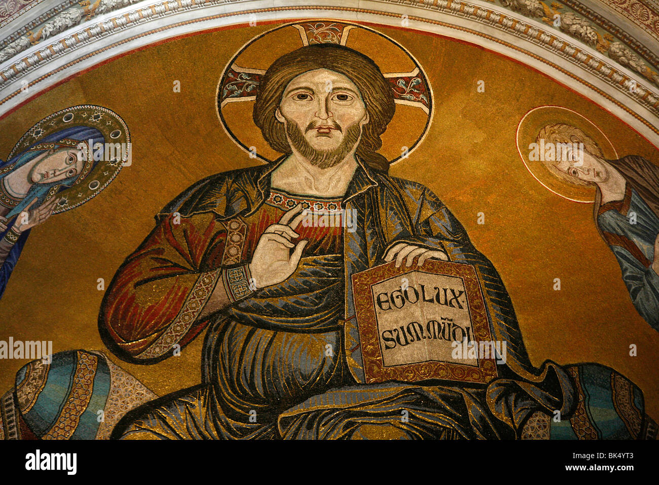 Christ in Majesty, Duomo of Pisa, Pisa, Tuscany, Italy, Europe - Stock Image