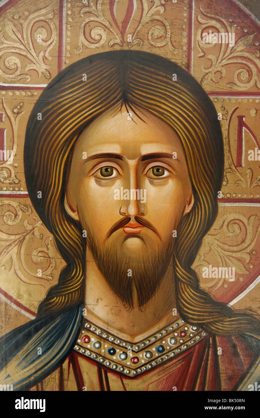 Portrait of Jesus, Jerusalem, Israel, Middle East - Stock Image