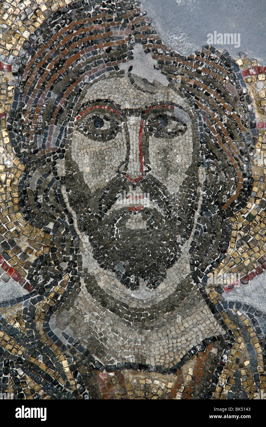 Mosaic of Christ in the Golgotha Chapel at the Church of the Holy Sepulchre, Jerusalem, Israel, Middle East - Stock Image