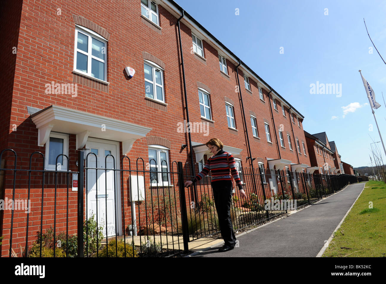 Modern terraced houses at Trench in Telford Shropshire uk Stock Photo