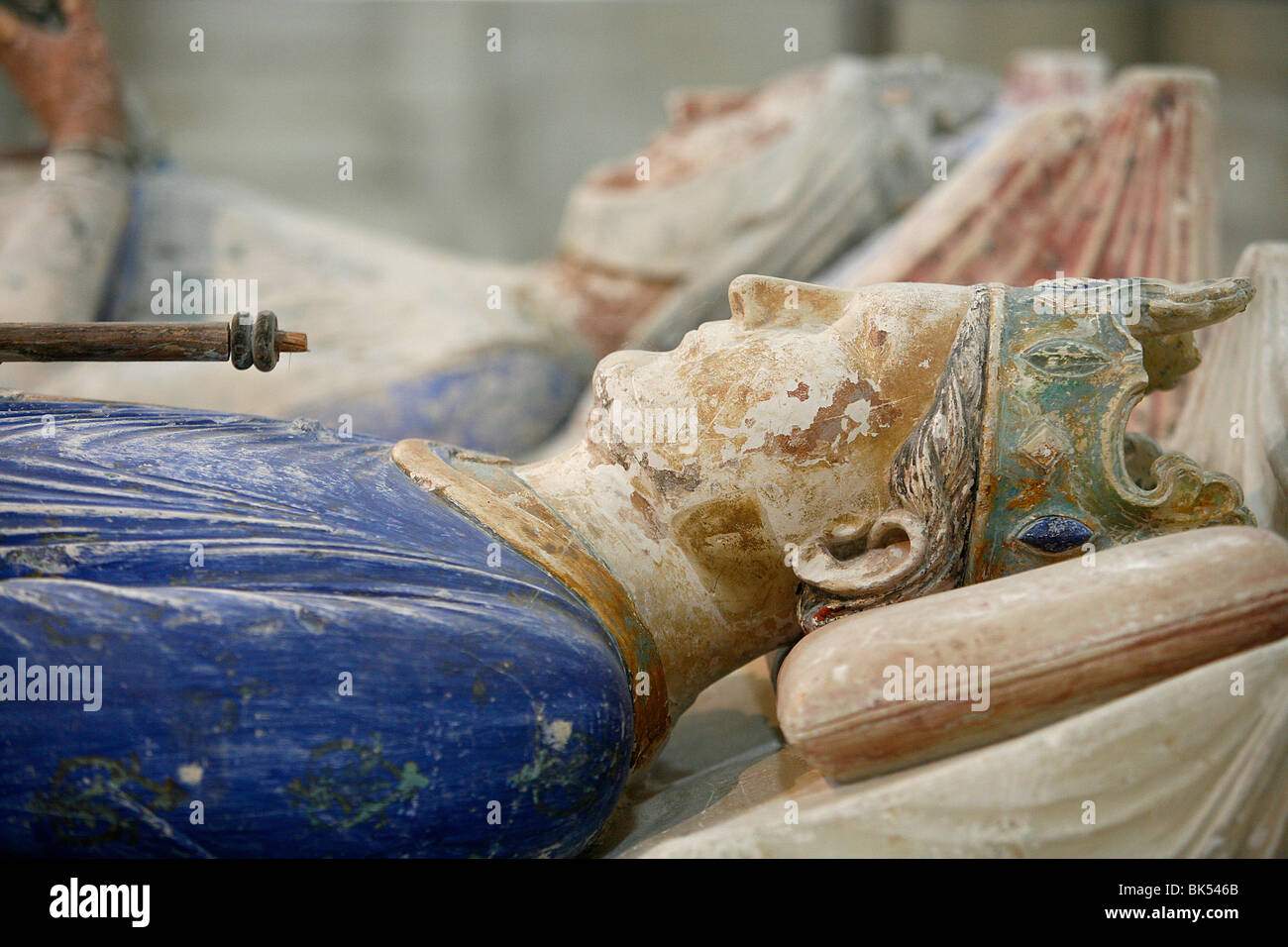 Tomb of Henry II, king of England from 1154 until 1189, Fontevraud Abbey, Fontevraud, Maine-et-Loire, France, Europe - Stock Image