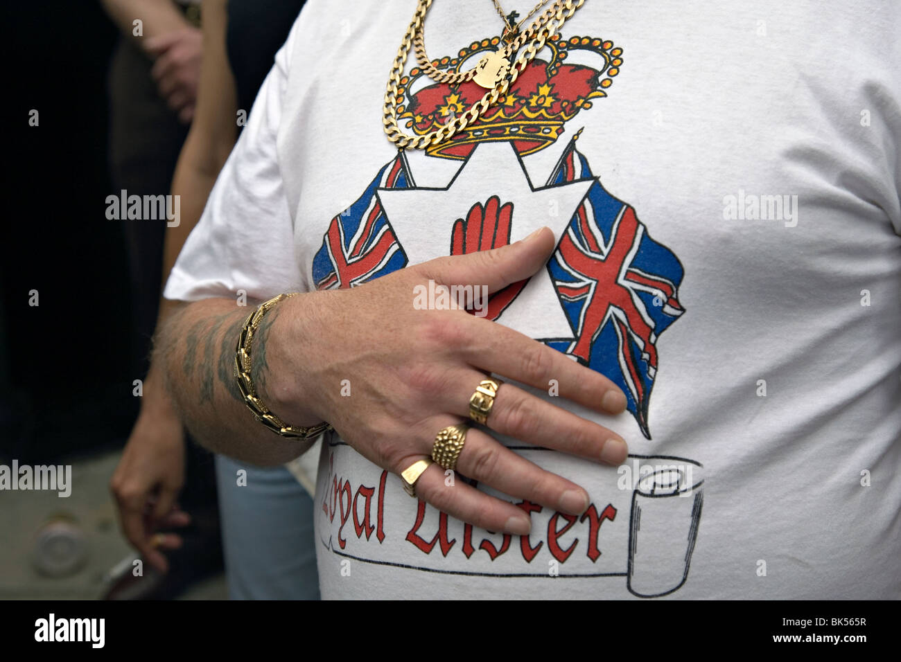 a person on an orange walk in london - Stock Image