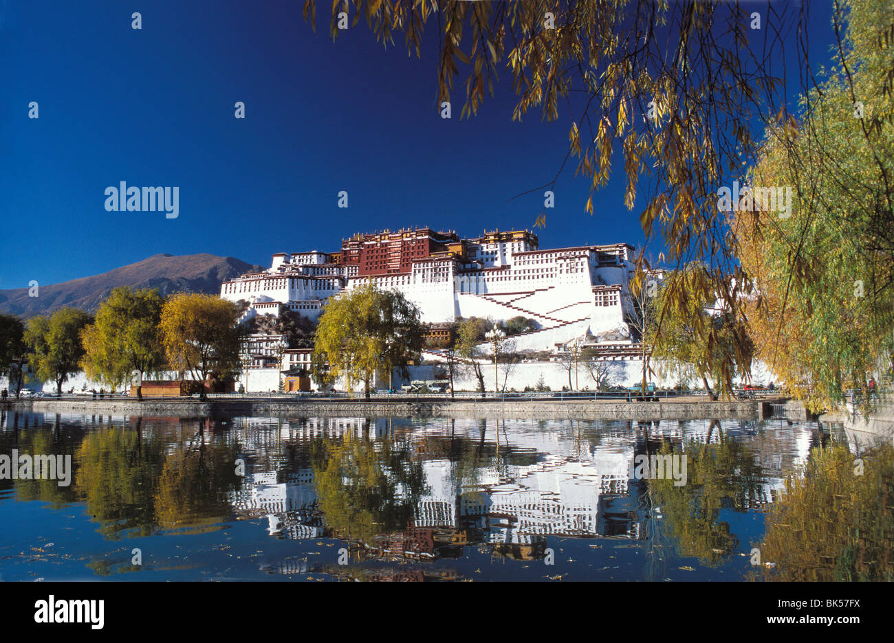 Potala Palace in Lhasa, UNESCO World Heritage Site, Lhasa, Tibet, China, Asia - Stock Image