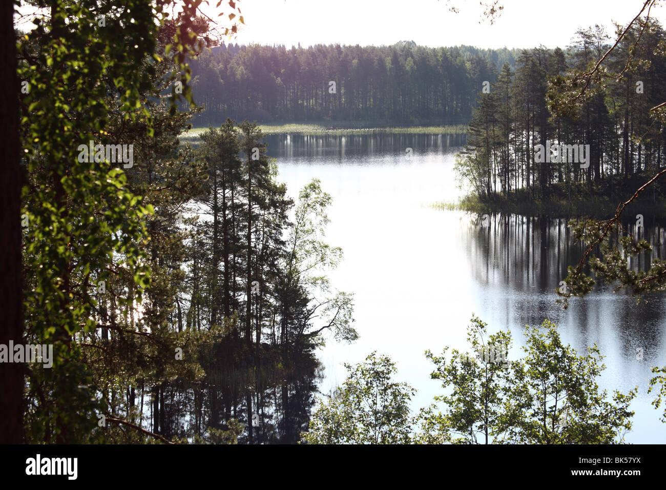 Lake Puruvesi, Punkaharju Nature Reserve, Saimaa Lake District, Savonia, Finland, Scandinavia, Europe Stock Photo