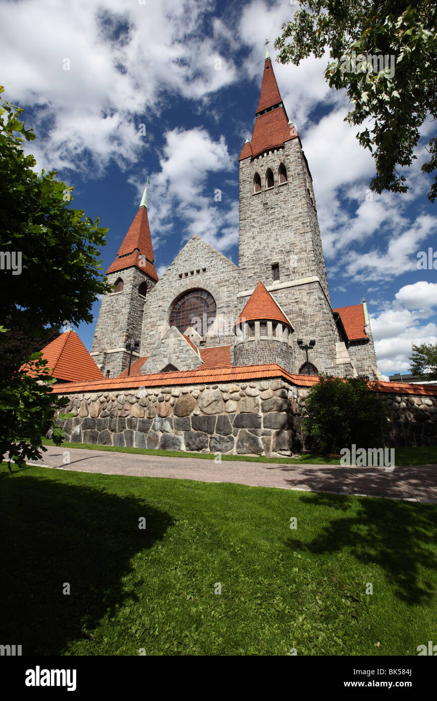 Tampere Cathedral, Tampere City, Pirkanmaa, Finland, Scandinavia, Europe - Stock Image
