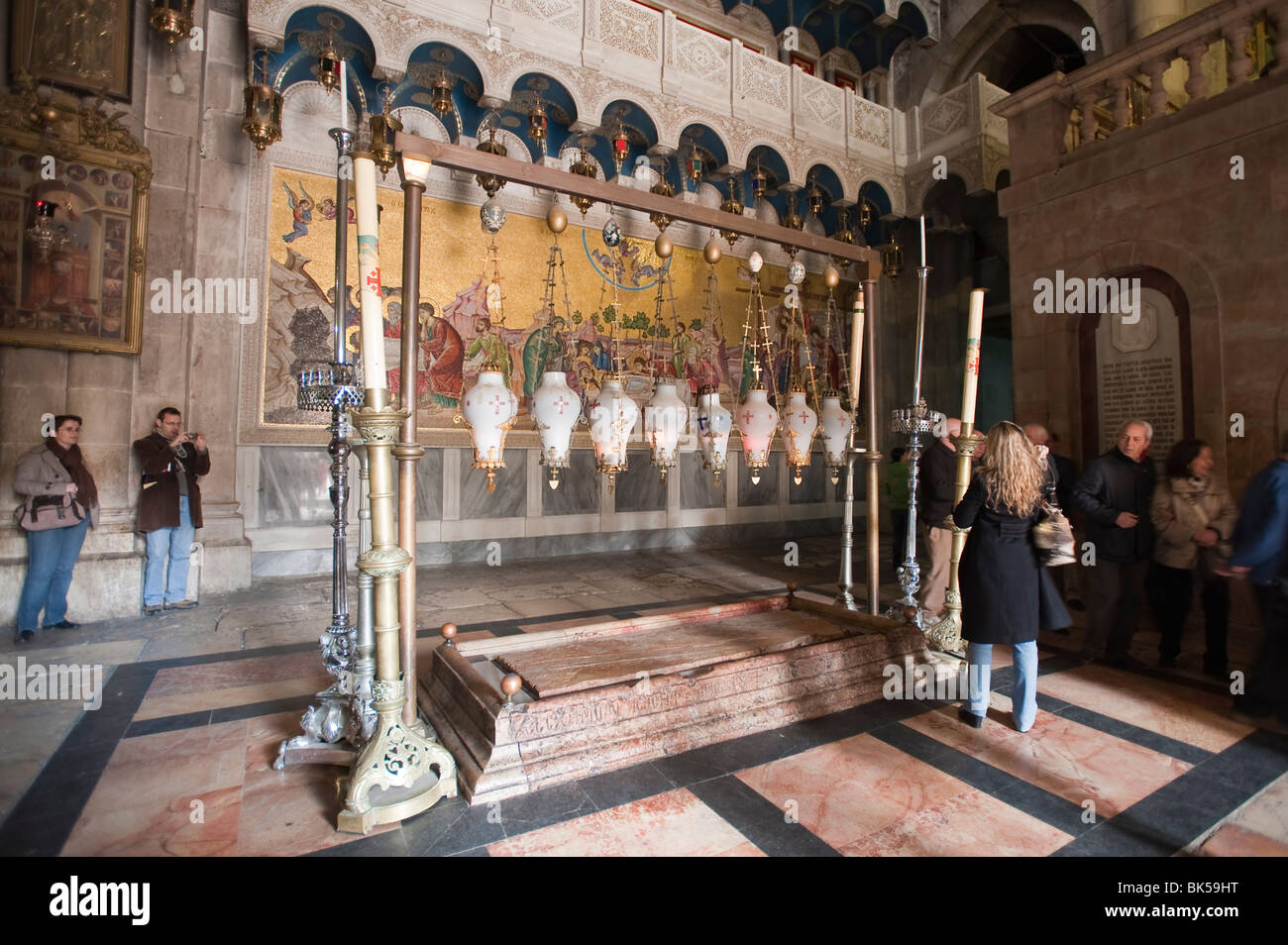 Church of the Holy Sepulchre, Jerusalem, Israel, Middle East - Stock Image