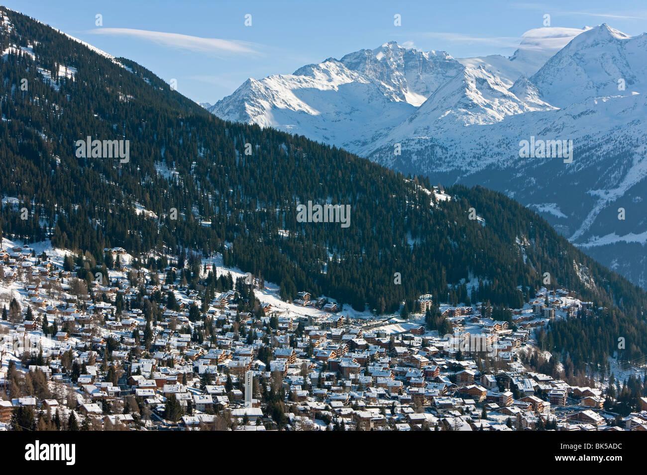 Verbier, Valais, Four Valleys region, Bernese Alps, Switzerland, Europe - Stock Image