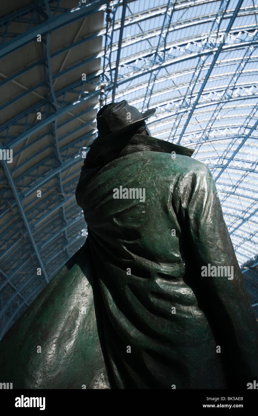 St Pancras Sculpture - Stock Image