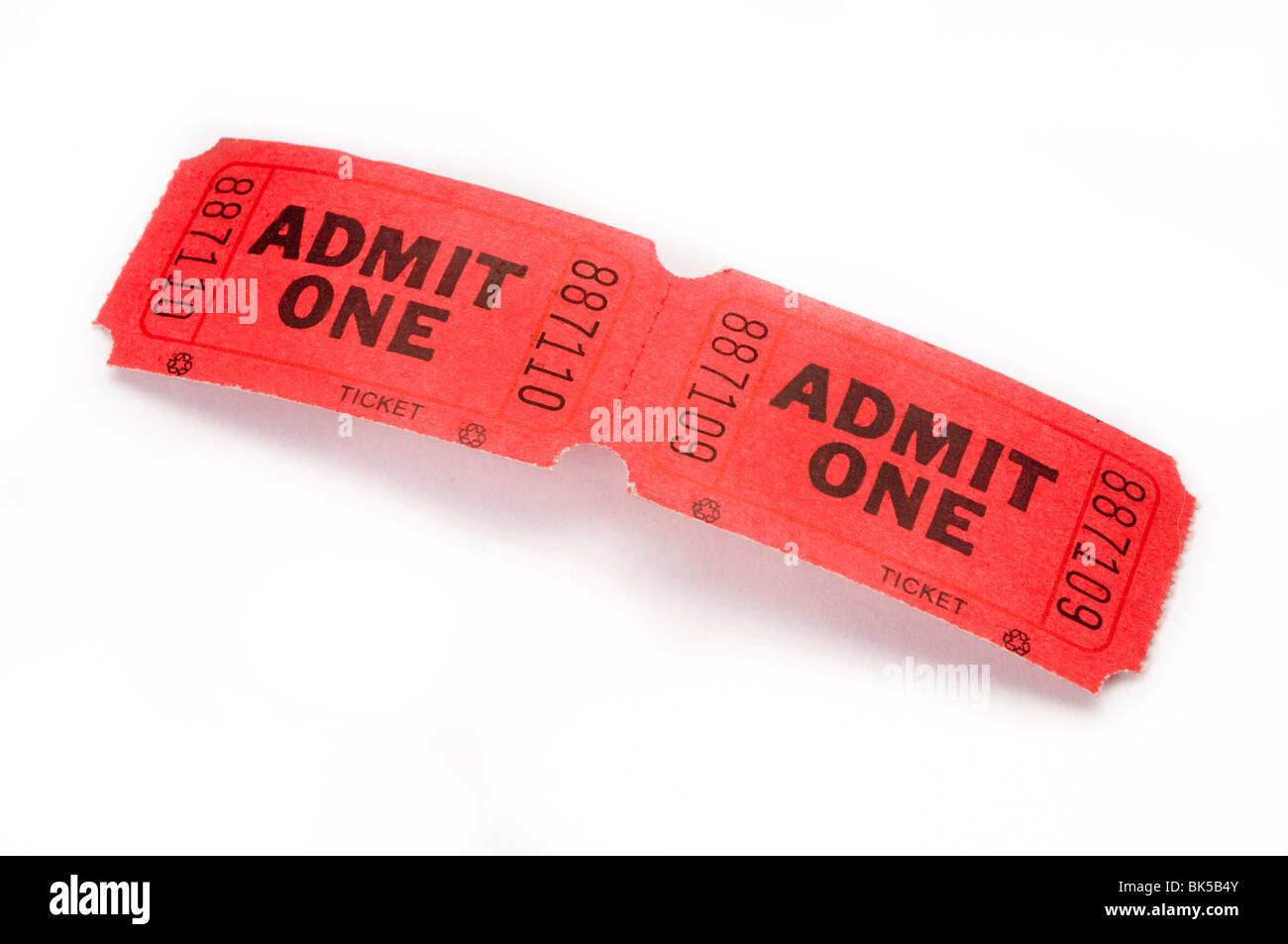 red movie event tickets - Stock Image