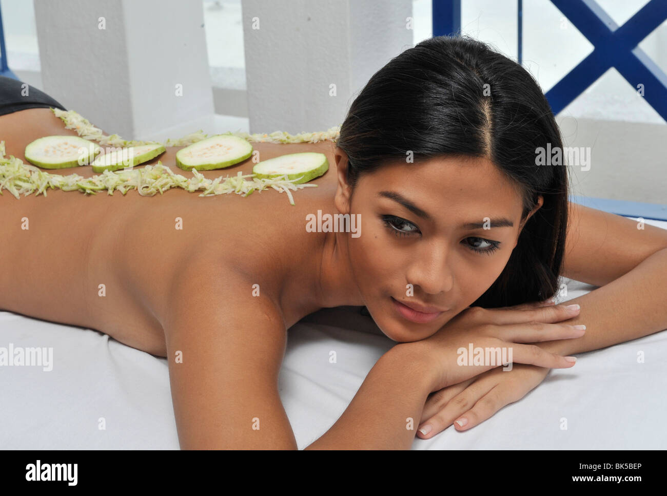 Guava treatment, Thunderbird Resort and Spa, La Union, Philippines, Southeast Asia, Asia - Stock Image