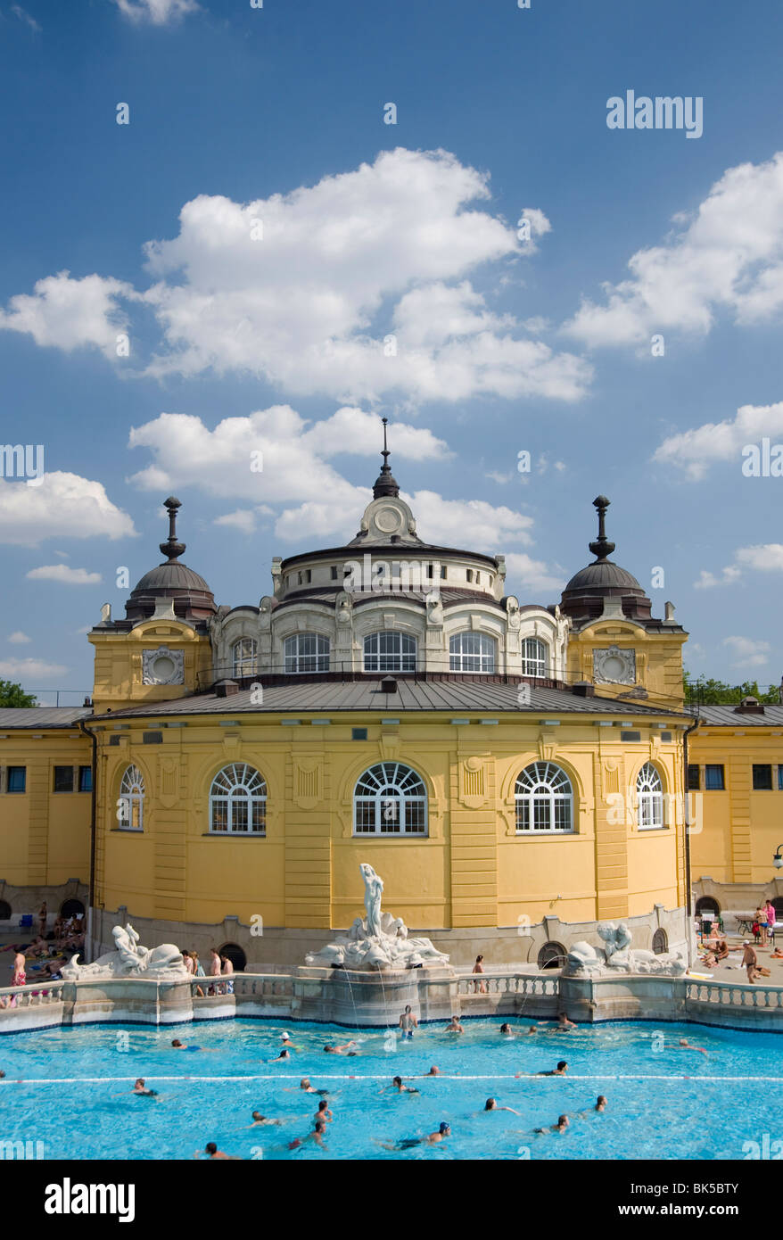 The Szechenyi Baths, Budapest, Hungary, Europe - Stock Image
