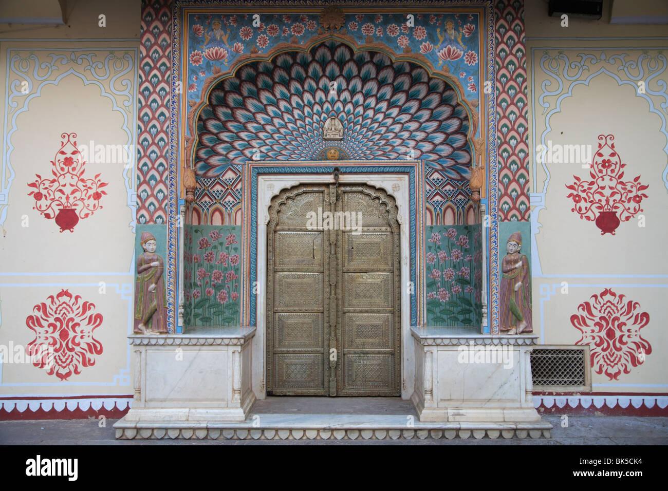 Door City Palace Jaipur Rajasthan India Asia Stock Photo