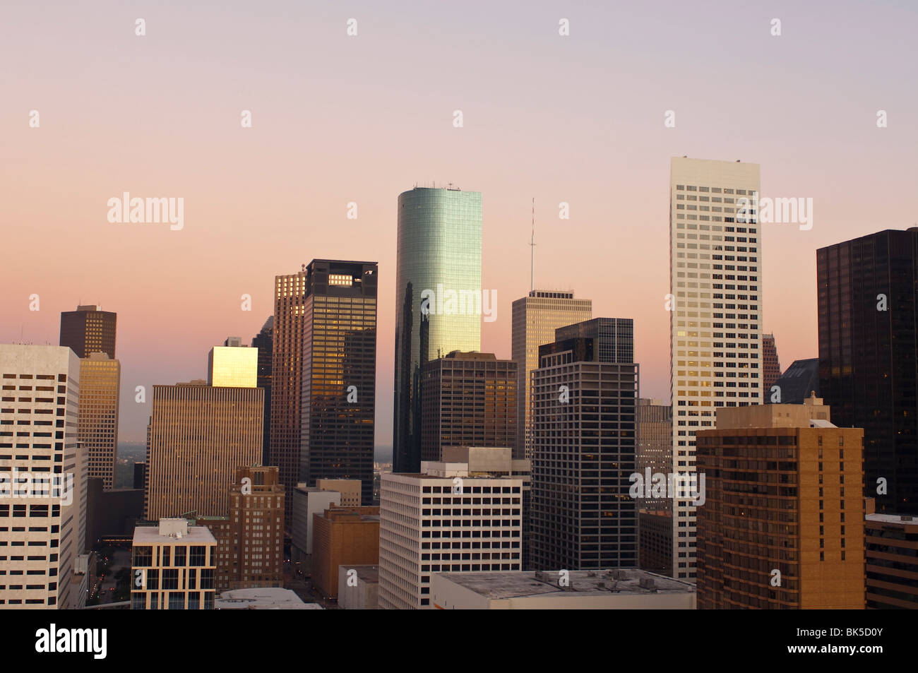 Skyline, Houston, Texas, United States of America, North America - Stock Image