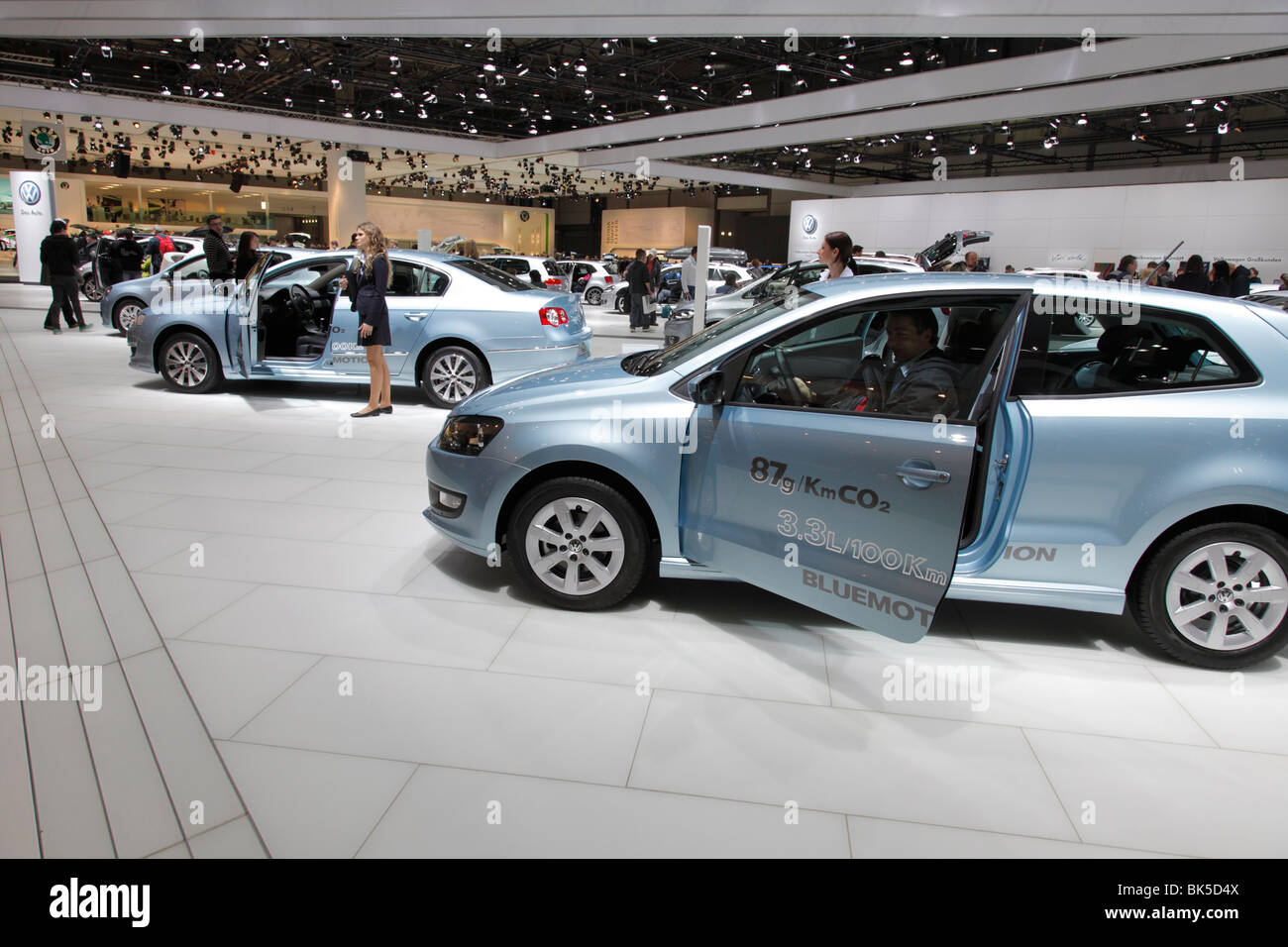 VW at the Auto Mobil International (AMI) - Motor Show 2010 in Leipzig, Germany - Stock Image