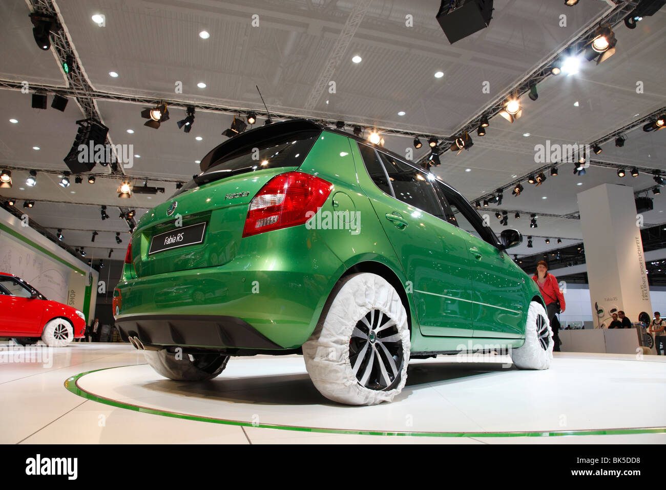 SKODA Fabia RS at the Auto Mobil International (AMI) - Motor Show 2010 in Leipzig, Germany - Stock Image