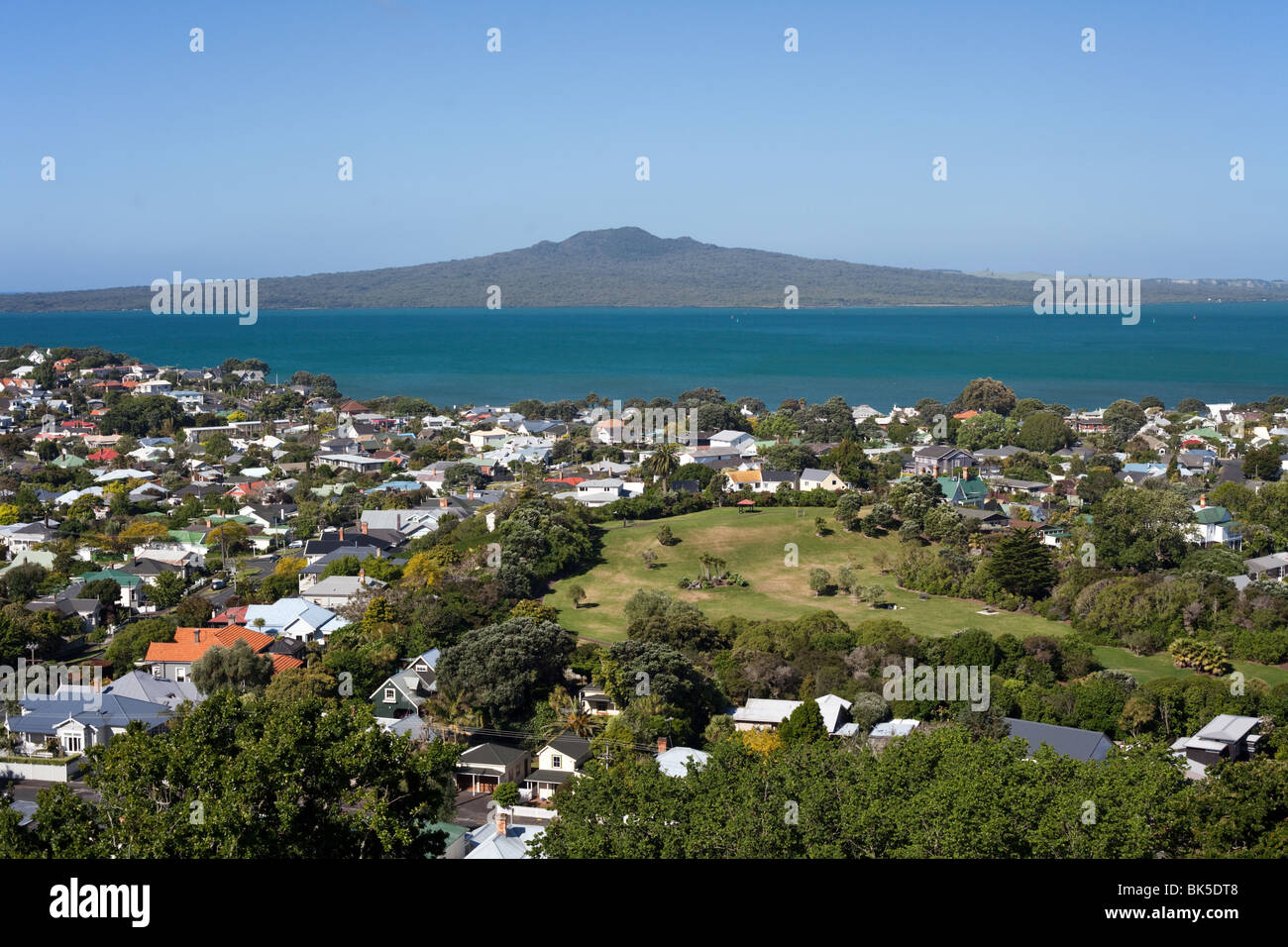 Rangitoto Island and the Hauraki Gulf, Auckland - Stock Image