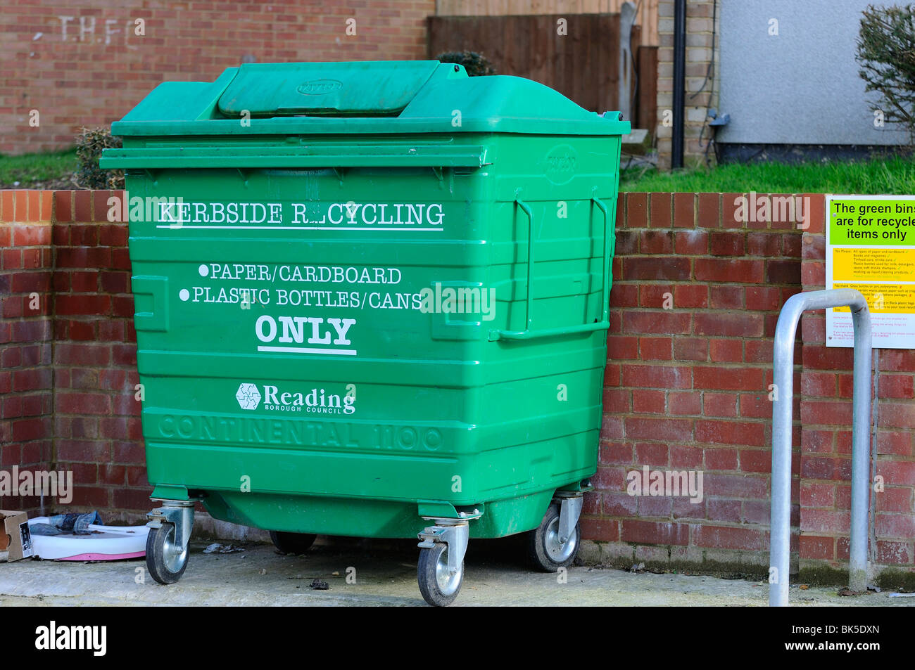 Communal Rubbish  Collection - Stock Image