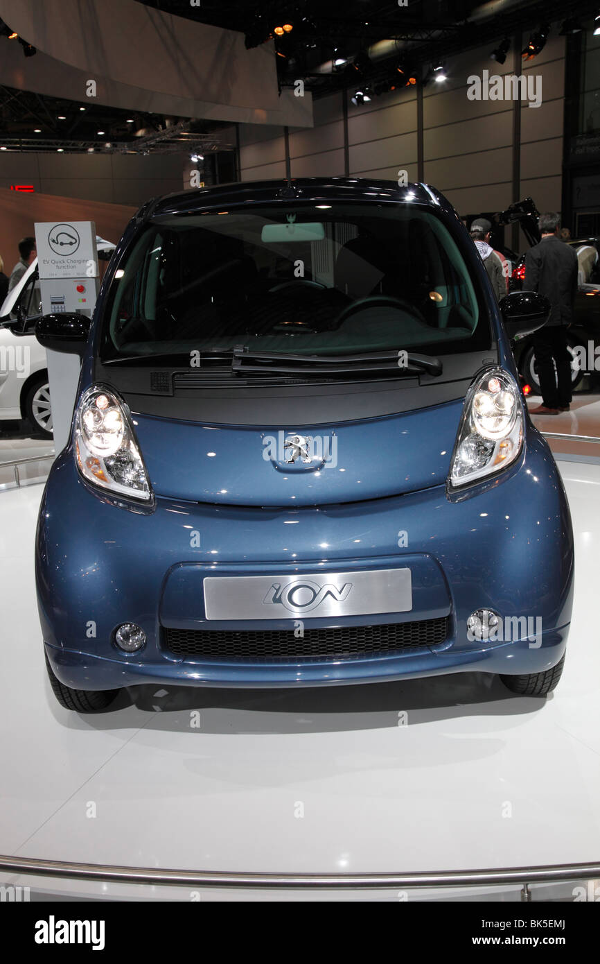 PEUGEOT iOn - an electric car at the Motor Show 2010 in Leipzig, Germany - Stock Image