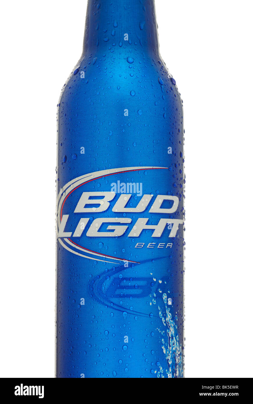 Bottle Of Budweiser Bud Light Beer   Stock Image