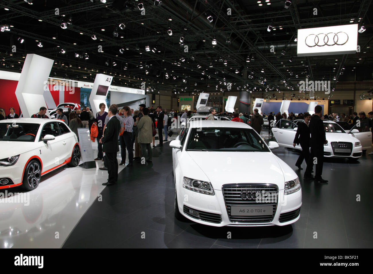 AUDI A5 2.0 TDI at the Auto Mobil International (AMI) - the Motor Show 2010 in Leipzig, Germany - Stock Image